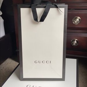 Tall Gucci gift bag